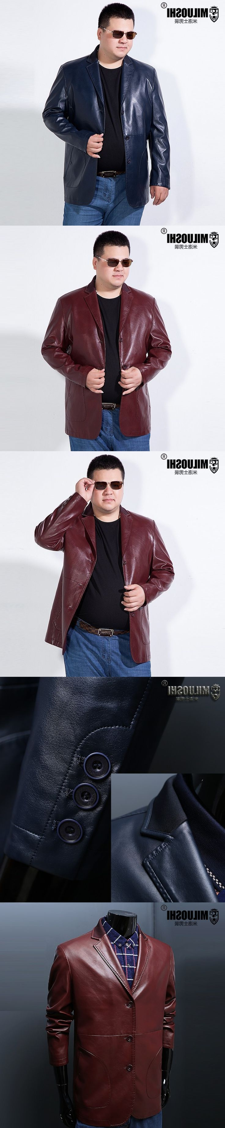 new 8XL 6XL 5X Men's Leather Jackets Spring and Autumn RED Leather Jacket For Men Faux Leather Coats Loose PU Jackets Overcoats