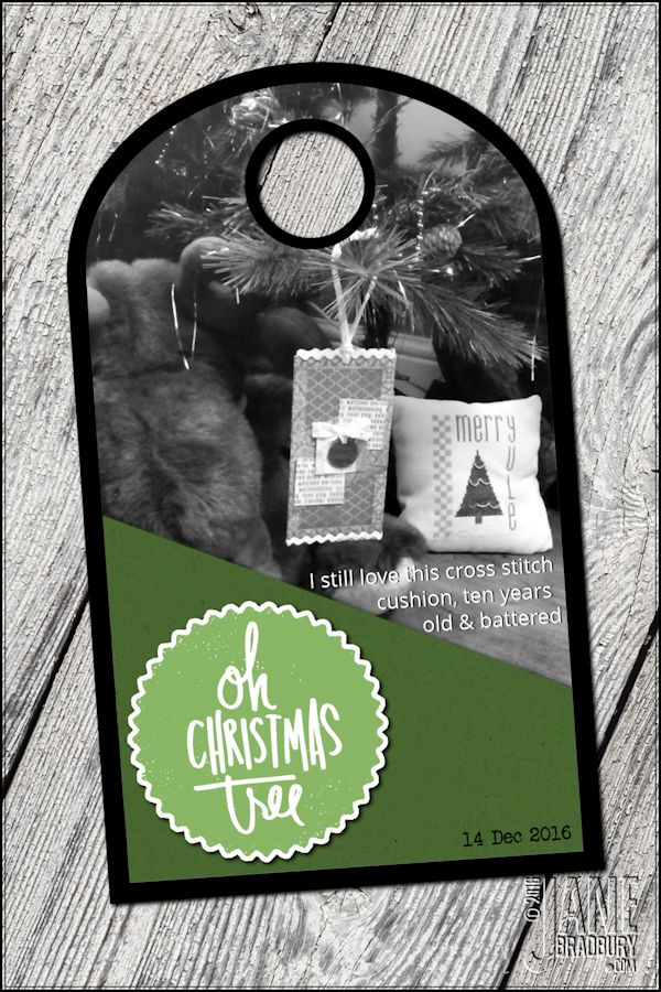 AED12Days2016 - using Oh Christmas Tree circle #AED12DAys2016