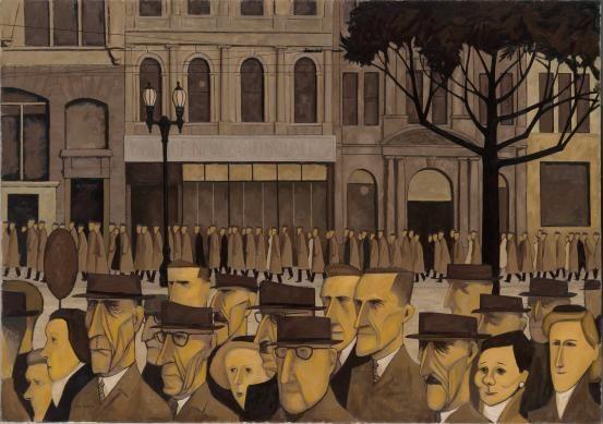 Collins St, 5p.m., by John Brack, 1955. Oil on canvas.