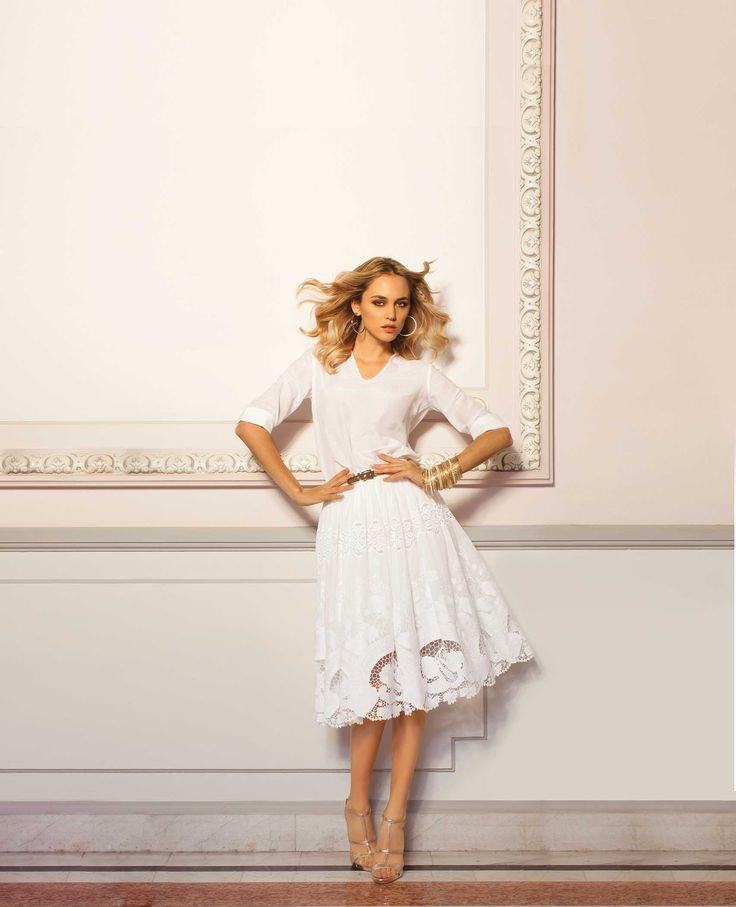 (c) www.nissa.com  #nissa #white #dress #style #fashion #fashionista #model #beautiful