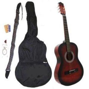 "38"" Student Acoustic Guitar Starter Package, Guitar, Gig Bag, Strap, Pitch Pipe & DirectlyCheap(TM) Translucent Blue Medium - http://www.learntab.com/guitar-deals/38-student-acoustic-guitar-starter-package-guitar-gig-bag-strap-pitch-pipe-directlycheaptm-translucent-blue-medium/"