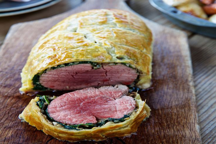 Beef Wellington with Baby Spinach - Make delicious beef recipes easy, for any occasion