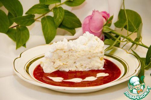 Охлажденный торт из раскрошенного безе с хрустящей начинкой из лесного ореха - кулинарный рецепт