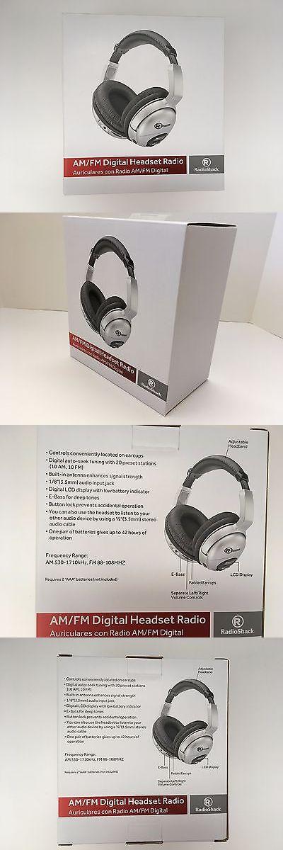 Portable AM FM Radios: Radioshack Am Fm Stereo Headphone Digital Headset Radio Receiver New -> BUY IT NOW ONLY: $61.99 on eBay!