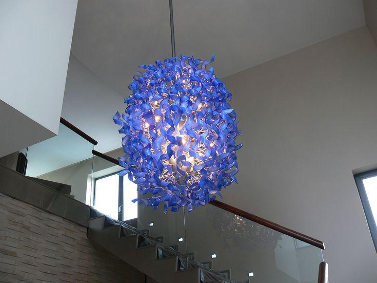 Nastro. Hand made murano glass chandelier