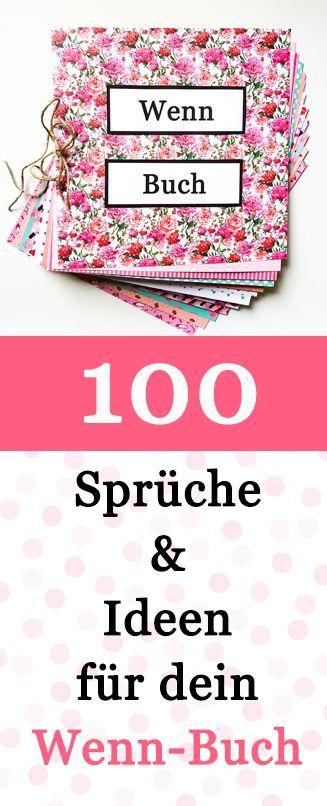 100 Wenn Buch Sprüche und Ideen für dein Wenn Buch – Dr. Hamann Verlag