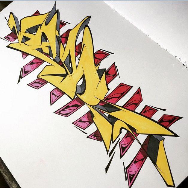 3D Graffiti : Drawing Graffiti Alphabet Letter 3D Wildstyle On BlackBook Amazing 3D Graffiti Wildstyle on Paper
