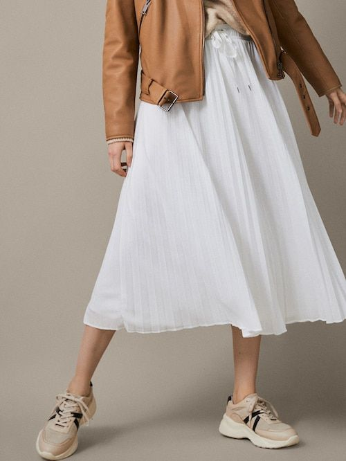 0672d4db Plisowana spódnica midi w 2019 | Spódnice | Spódnica, Polo ralph ...