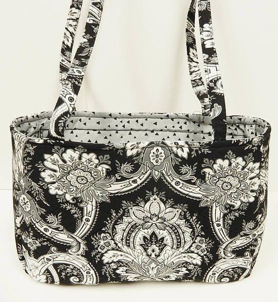 Shoulder Bag Handbag Recessed Zipper Black and White