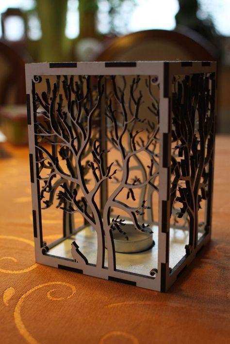 Laser+cut+candle+holder+Tree+animals++by+Rumo.