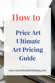 Formulas and tips on how to price art. Price your art to sell.