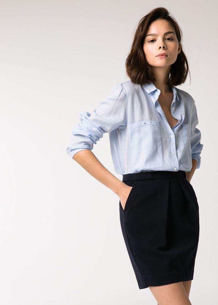 Pleated skirt - Women - MANGO