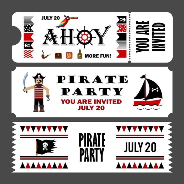uitnodigingen piratenfeestje zelf maken