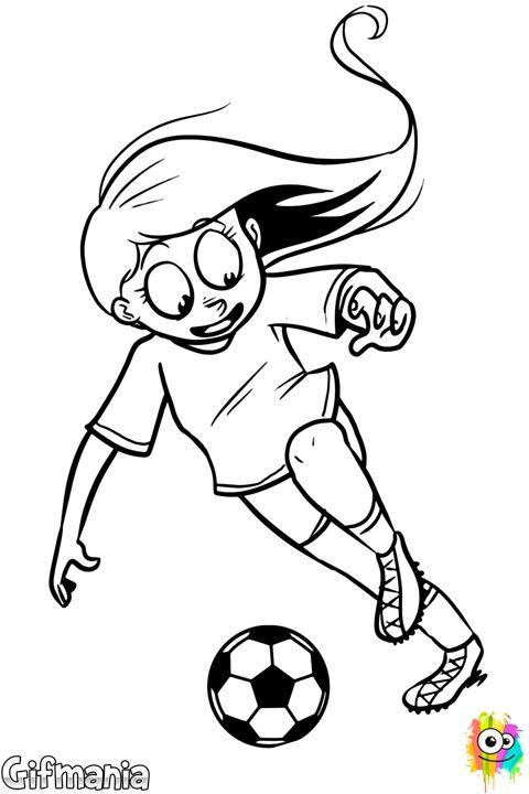 Footballer Girl Soccer Girl Drawing P T El Futbol Pinterest