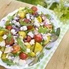 Kycklingsallad med saffran- och timjanvinägrett - Recept från Mitt kök - Mitt Kök