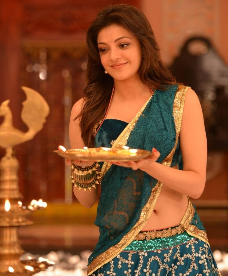 Kajal Agarwal Hot Naval in Saree #FoundPix #KajalAgarwal