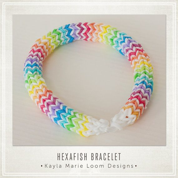 Hexafish Rainbow Loom Bracelet - party favors