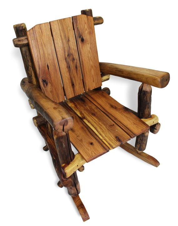 Rustic Rocking Chair Reclaimed Wood Rocking Chair by WoodzyShop