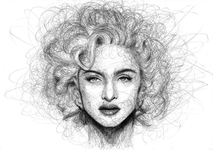 Scribble Drawing Uk : Madonna scribbles by liliana domínguez lópez