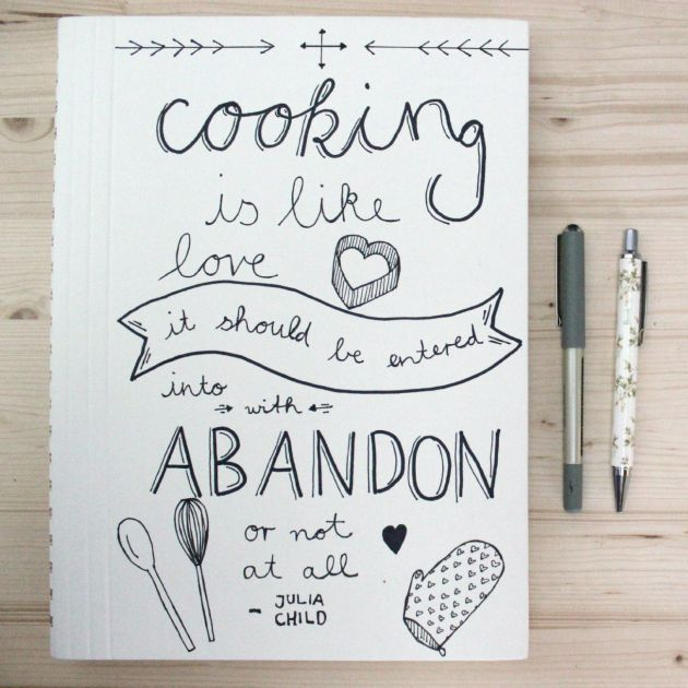 Food Book Cover Quote ~ Love to go living a simple creative life diy