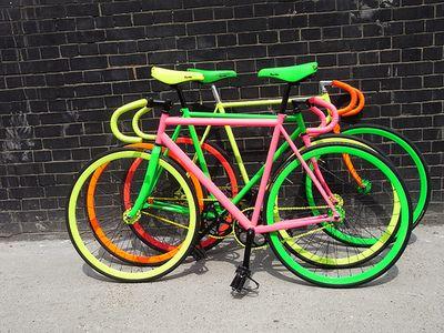 Neon Bikes #bike #biciclette #bicicleta #fixed gear #fixie