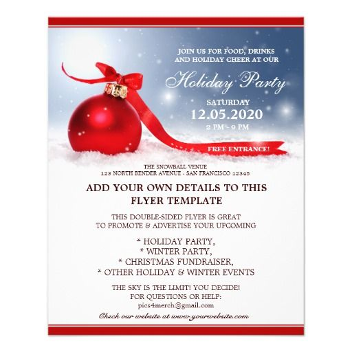 32 best Christmas And Holiday Party Flyers images on Pinterest - winter flyer template