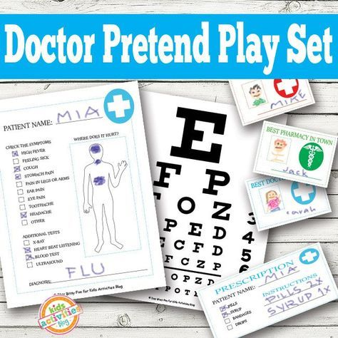 Doctor Pretend Play Printables for Kids