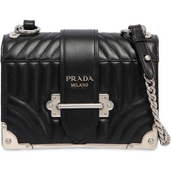 71e69aee7e Prada Women Cahier Quilted Soft Leather Shoulder Bag (€2.455) ❤ liked on  Polyvore