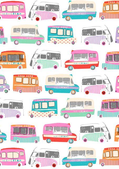 TO DECORATE (Dawn Bishop: ice-cream vans)
