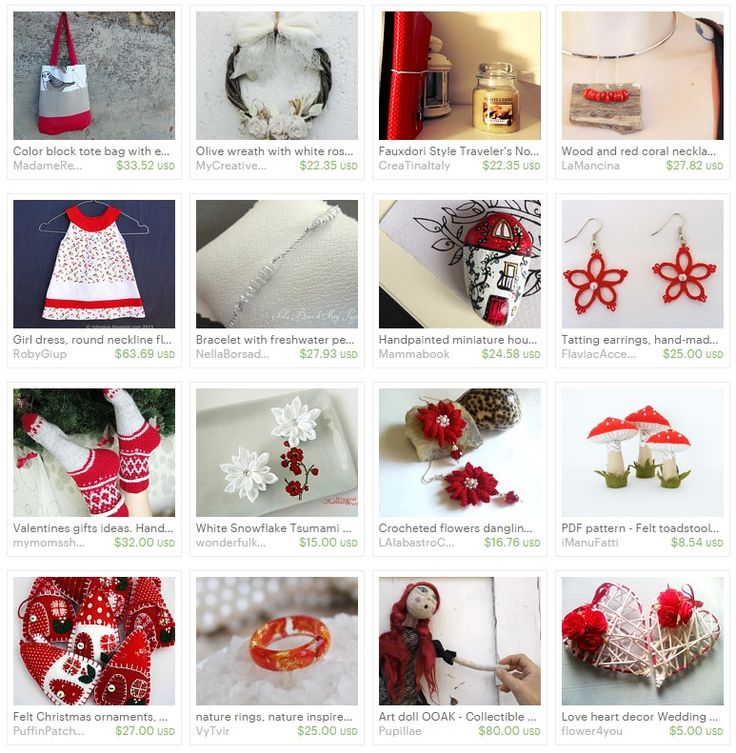 Red & White on Etsy - by RobyGiup