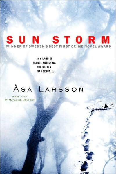 """On the floor of a church in northern Sweden, the body of a man lies mutilated and defiled–and in the night sky, the aurora borealis dances as the snow begins to fall...."" So begins Åsa Larsson's spellbinding thriller. Tax lawyer Larsson writes toned-down, harrowing novels in the bleak and psychological Swedish tradition. Her debut is Sun Storm, winner of Sweden's Best First Crime Novel Award, followed by the taut Blood Spilt."