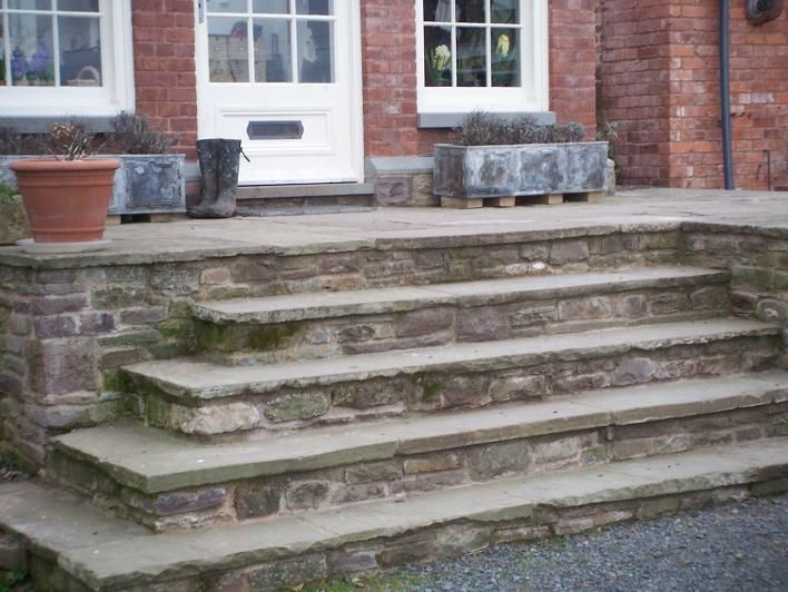 Stone steps backyard ideas pinterest stone steps for Pictures of stone steps