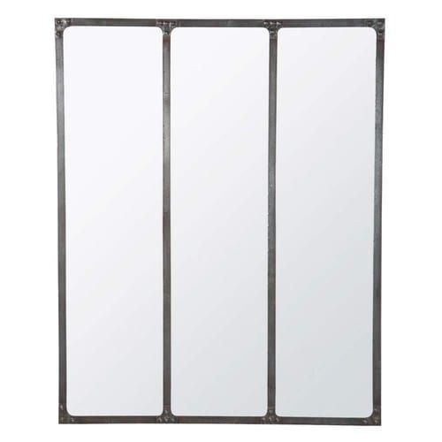 Miroir en métal effet rouille H 120 cm CARGO