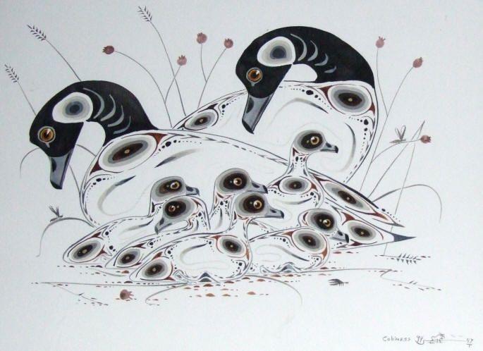 "eddy cobiness | 22"" x 28"" Eddy COBINESS original on canvas ""Blue Goose"""