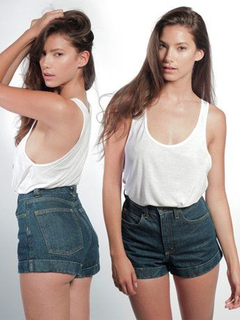American apparel medium wash high waist jean review