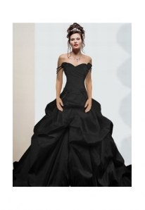 If anyone could pull off a black wedding dress it would be me.
