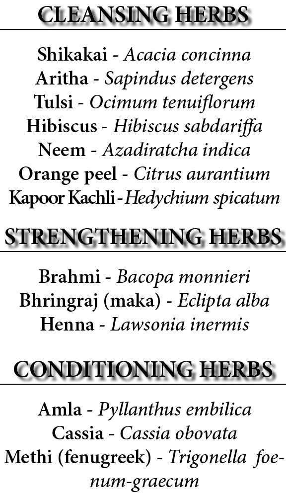 Ayurveda Herbs Guide For Hair