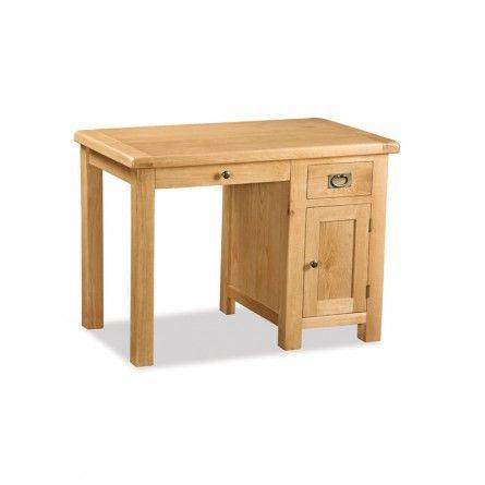 Salisbury Oak Single Desk - Ideal Furniture