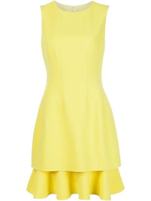 Oscar de la Renta многослойное платье без рукавов