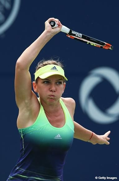 .@Simona_Halep is 1st into @RogersCup SFs! Beats defending champ Radwanska 0-6, 6-3, 6-1--> http://wtatenn.is/Gp8cGj