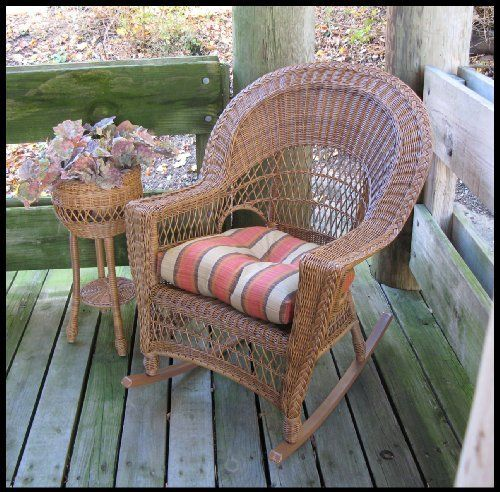 Outdoor Wicker Rocker, Natural Brown by Wicker Paradise. $284.00. Great size: 29 inches wide, 36 inches deep, 40 inches high. Resin Wicker Rocker on aluminum for strong construction. Minor assembly: Easily attach rocker runners to rocker. Traditional wicker style makes this a hallmark favorite!. A wicker rocker made for the total outdoors or partly covered spaces is ideal for hours of rocking and lounging. The Outdoor Wicker Patio Rocker is woven outdoor wicker for your area....