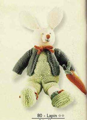 Isabelle Andréo Tricot: tuto lapin & carotte tricotés