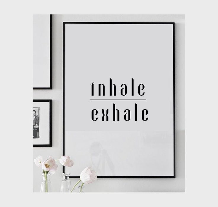 Breathe print, yoga poster, meditation, inhale exhale, yoga print, yoga wall decor, yoga studio decor, yoga wall art, relax print, yoga gift by ColourMoon on Etsy https://www.etsy.com/listing/206116848/breathe-print-yoga-poster-meditation