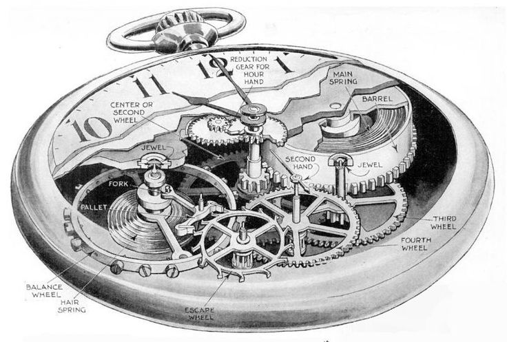 Pocketwatch cutaway drawing - Pocket watch - Wikipedia, the free encyclopedia