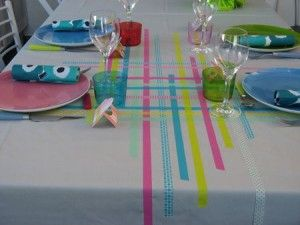 masking tape.  now THAT would be perfect for my wedding reception!