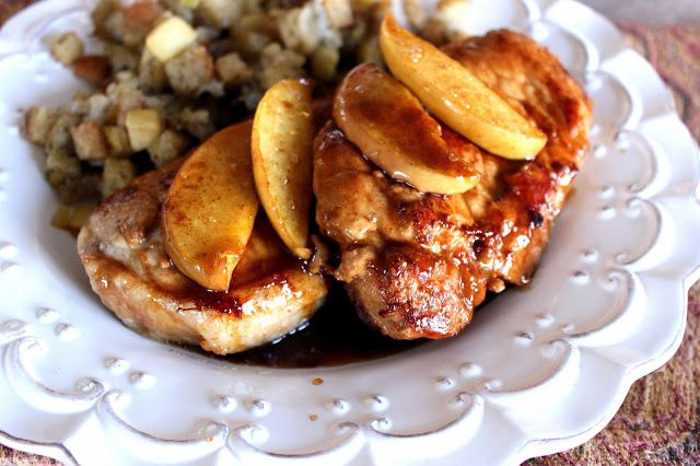 Caramel Apple Pork Chops by Deals to Meals