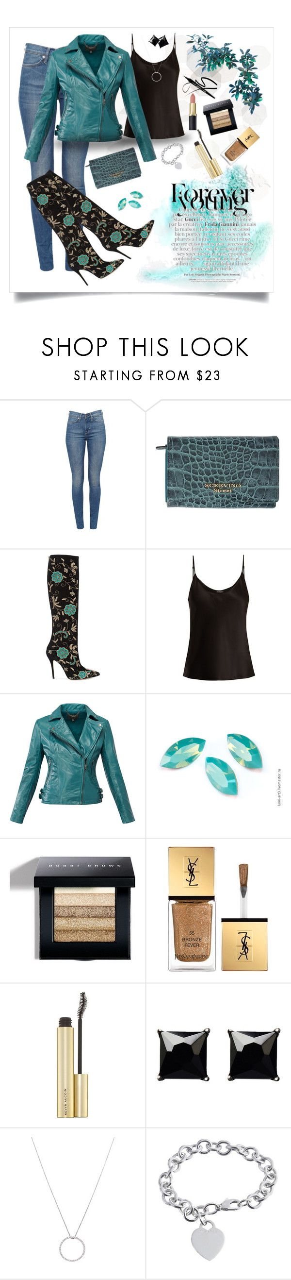 """""""Forever Teal"""" by brittallan ❤ liked on Polyvore featuring SCERVINO STREET, Oscar de la Renta, La Perla, MuuBaa, Bobbi Brown Cosmetics, Yves Saint Laurent, Witchery, Roberto Coin and Tiffany & Co."""