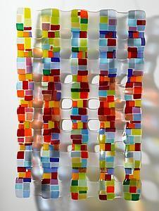 Small Retro Mesh Sculpture By Renato Foti (Art Glass Wall Sculpture