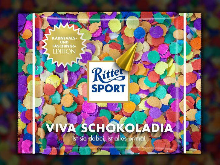 RITTER SPORT Fake Sorte Viva Schokoladia – für ein schön buntes Karneval!