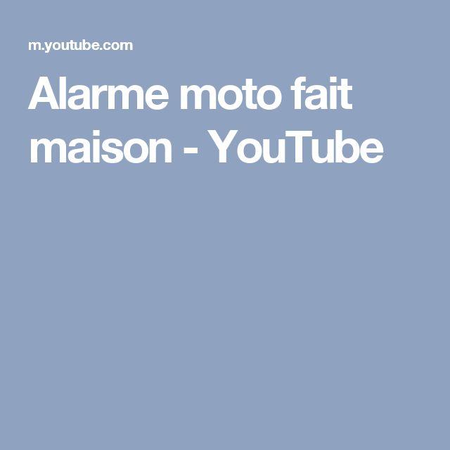 Alarme moto fait maison - YouTube